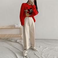 Seeds pintuck wide pants