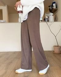 Pogni Soft Wide Banding Pants