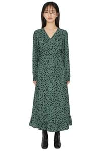 Wild dot wrap maxi dress