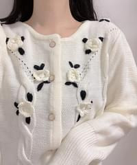 Mimi flower knit cardigan
