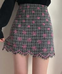 Genie flower embroidery surgery skirt pants