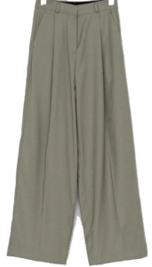 Hidden Hook Pin Tuck Wide Slacks