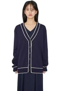 Melody color line V-neck cardigan