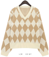 Diamond Pattern Knit Top