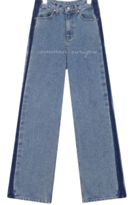 Loose Fit Washed Denim Jeans