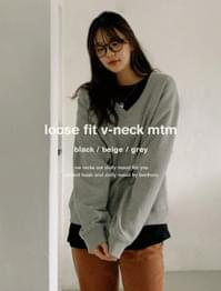 Play Loose Fit V Neck Sweatshirt
