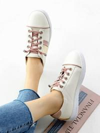Rose Gold Whole Heel Sneakers 4cm