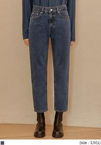 Mid Rise Crop Denim Jeans
