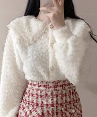 Max fur collar cardigan
