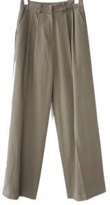 wide fit cotton twill pants