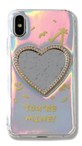 Heart Mirror Cubic Hologram iPhone Case