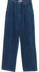 Heat Pin Tuck Wide Denim Pants 牛仔褲