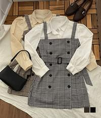 Beautiful Milk Check Belt Mini One Piece
