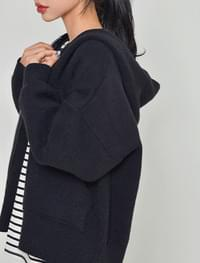 Bear Knit Hooded Zip-Up zip_up