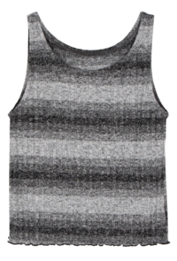 Two block sleeveless knit top