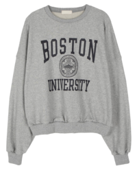 Boston printed crew neck sweatshirt