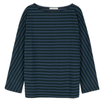 One-day striped boat neck T-shirt