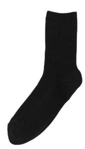 Ribbed soft socks 靴下