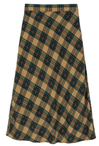 Genne check flared maxi skirt