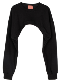 Hippie cropped crew neck sweatshirt