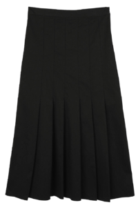 Fran pleated midi skirt