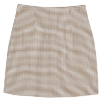 Hound check pattern midi skirt