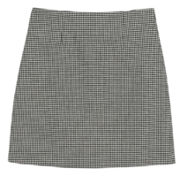 Hound check pattern midi skirt skirt
