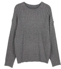 Eileen Crew Neck Cable Knit