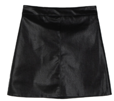 Room leather mini skirt