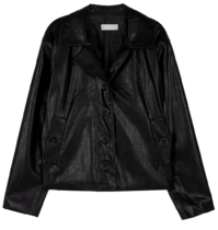 Formal single leather jacket