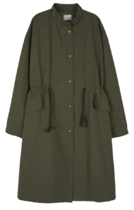 Compact over long parka coat