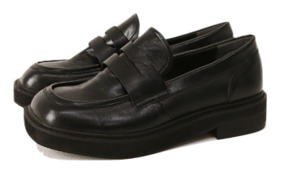 Square Toe Pleather Penny Loafers