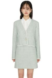 Maid cropped tweed jacket