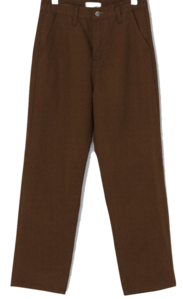 Sensual mood semi-wide cotton pants
