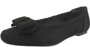 Double Ribbon Flat Shoes Black