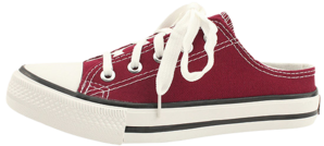 Canvas Sneakers Mule Blocker Wine Red