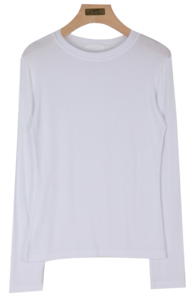 Beautiful milk ribbed T-shirt