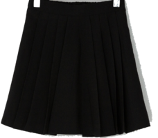 Classic mood pleated mini skirt