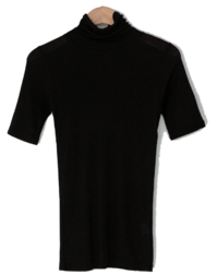Gelabi Soft Turtleneck Short Sleeve Tee