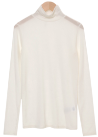 Ross Ribbed Tencel Turtleneck T-shirt