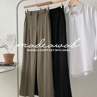 Golgi Knit Wide Long Slacks (ver. Secret Banding/Wide Long Fit)