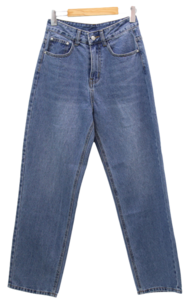 Basic Wide Long Straight Jeans