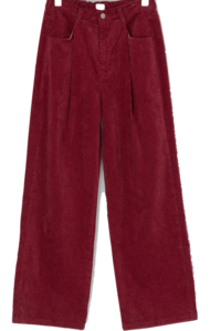 Village waistbanding corduroy pants