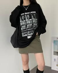 Test Overfit Boxy Print Long Sleeve T-Shirt