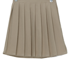 Chocolate pleated mini skirt
