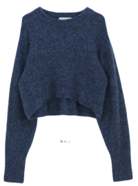Mohair cropped knit