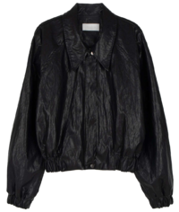 Step Shine Leather Jacket