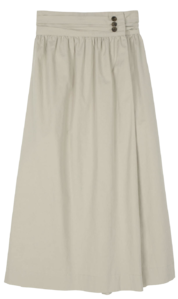 French button maxi skirt スカート