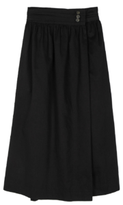 French button maxi skirt