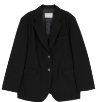 Gentle notched single blazer